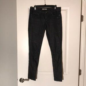 Rich & Skinny Blue/Black Waxed Skinny Jeans